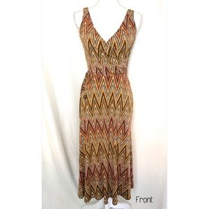 Maggy London mini length dress brown color size 6